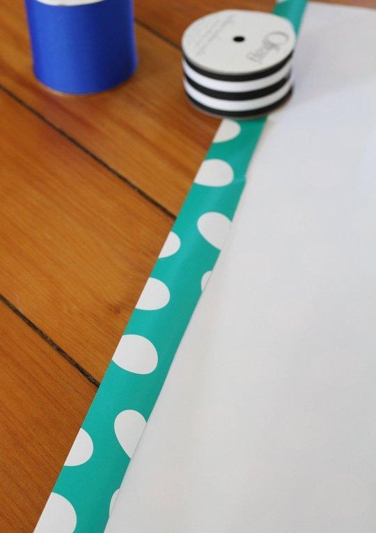 Как упаковать коробку в бумагу