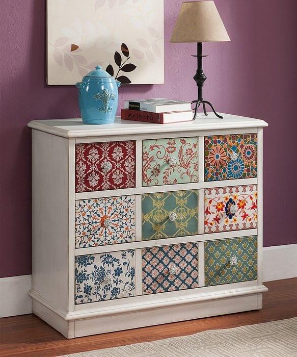 Декор мебели своими руками тканью