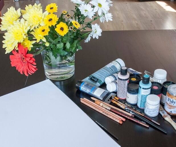 как рисовать цветами