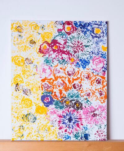нарисовать картину бутонами цветов