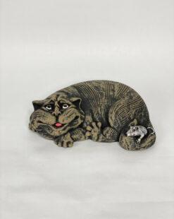статуэтка кот с мышкой
