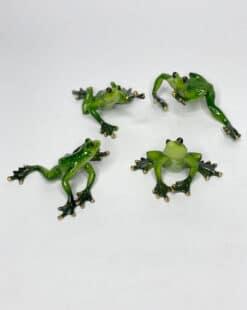 фигурка лягушка зеленая