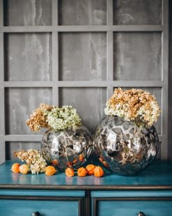 стеклянная ваза шар для цветов купить