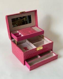 шкатулка для украшений розовая