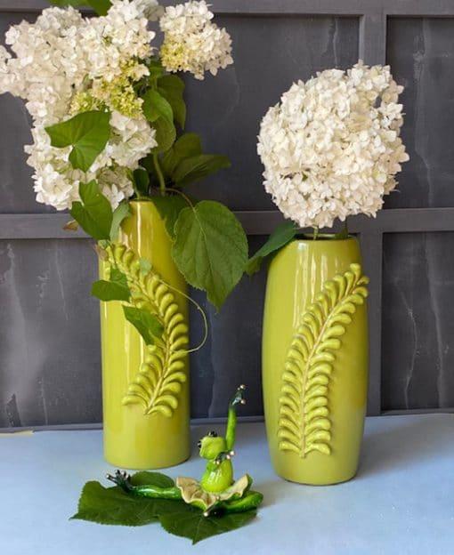 ваза зелёная