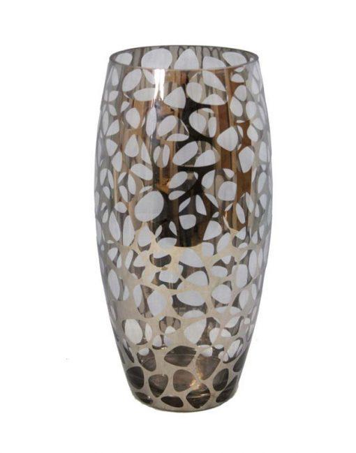 большая стеклянная ваза для цветов