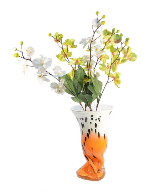стеклянная напольная ваза