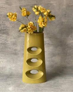 ваза зленая напольная