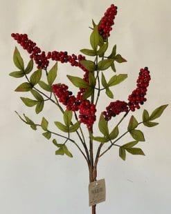 ветка искусственная с ягодами