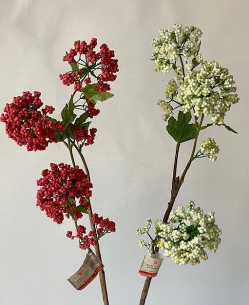 ветка искусственная с ягодами интерьерная