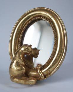 зеркало настольное золотое