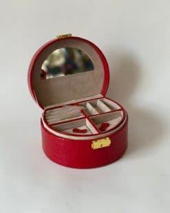 шкатулка с зеркалом красная