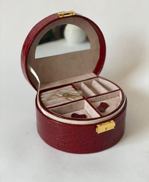 шкатулка с зеркалом бордо