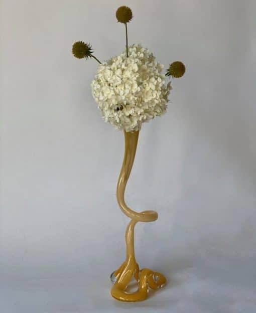 ваза-подсвечник стеклянная