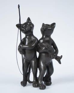 коты пара рыбаки