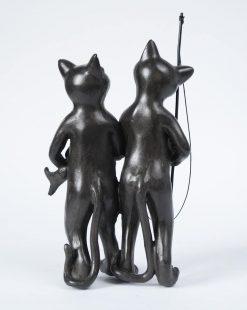 статуэтка коты рыбаки