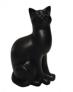 статуэтка черная кошка