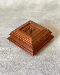 шкатулка для колец дубовая