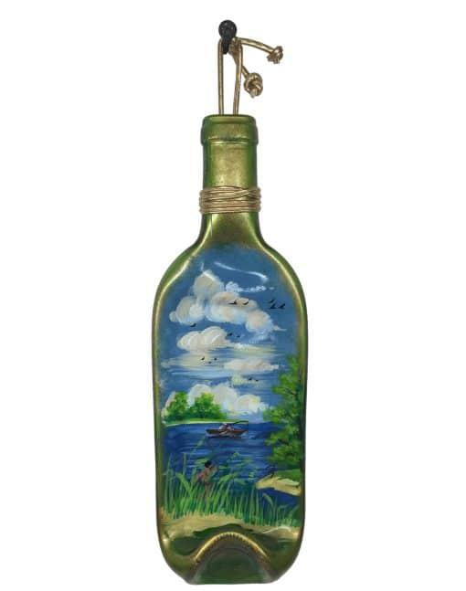 бутылка плавленая в печи