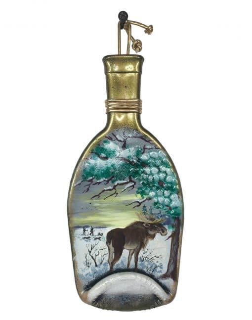 плавленая бутылка для декора