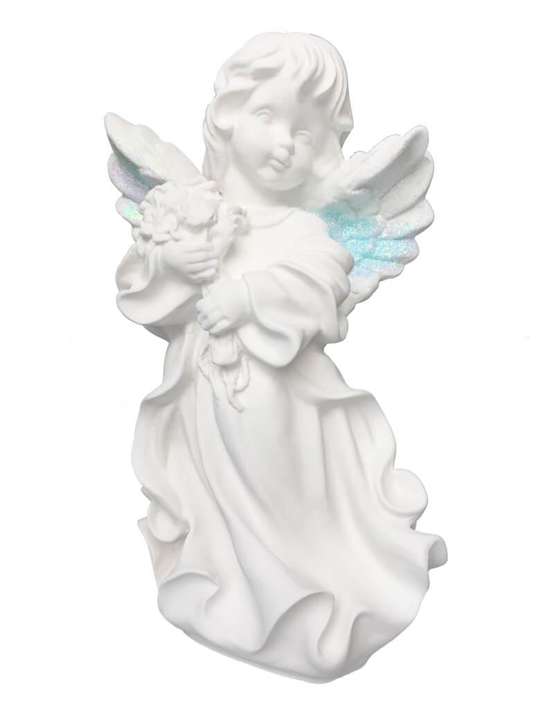 купить статуэтку ангела с букетом
