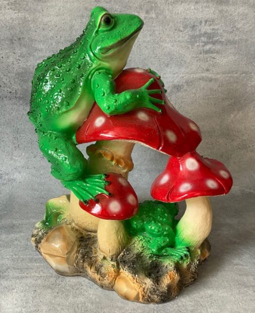 фигура садовая лягушки зеленые