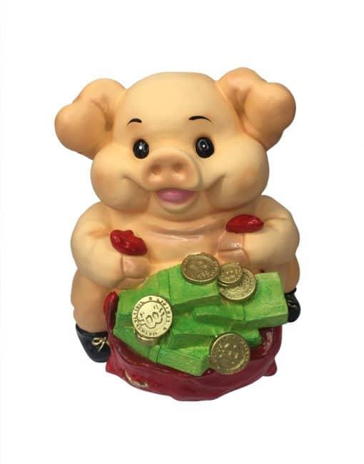 копилка свинья с мешком