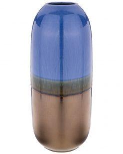 ваза синяя большая