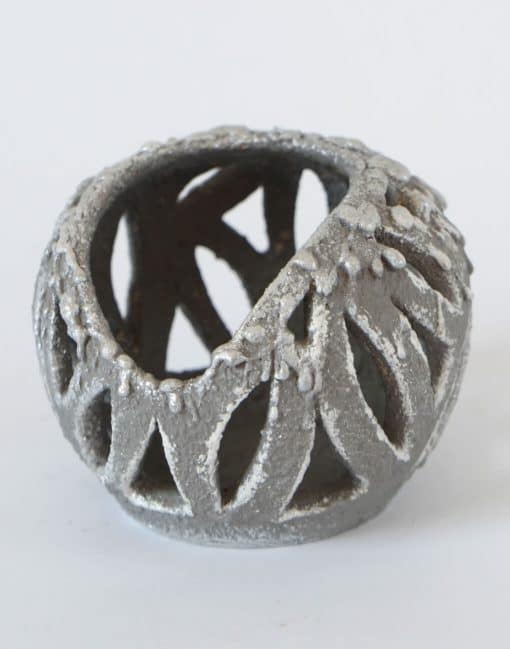 подсвечник керамический шар