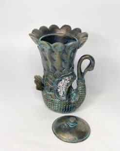 лебедь вазочка-шкатулка