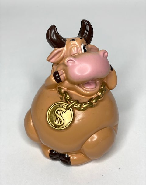 купить фигурку бык с монетой