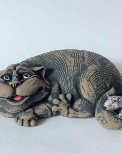 фигурка кот с мышкой