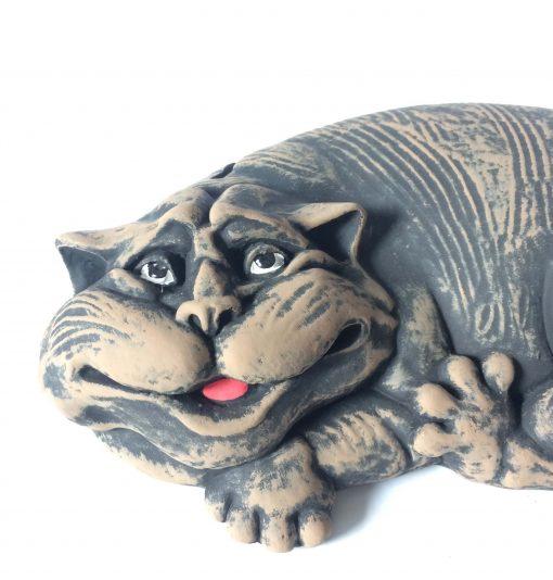 кот с мышкой шамот
