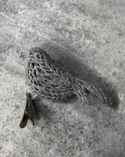 серебряное украшение на елку