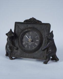 часы каминные с котом и мышкой