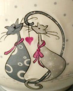 чашка влюблённые коты