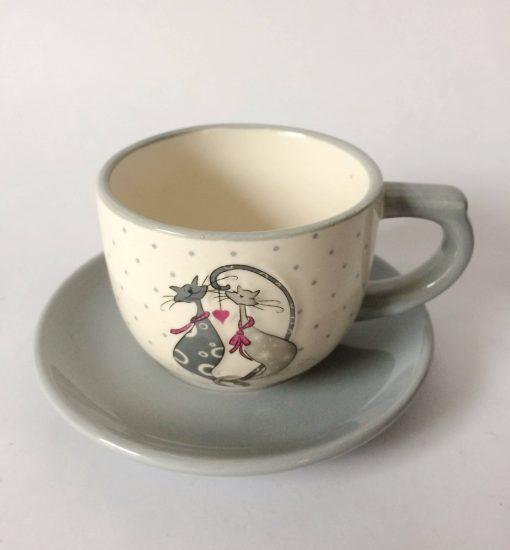 чашка с блюдцем фарфоровая
