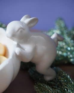 кролик на посуде