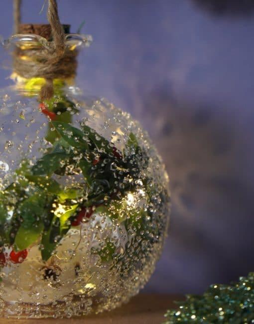 елочный шар с подсвечткой