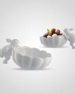 конфетница с кроликом