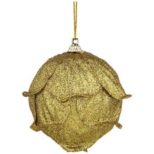 золотой елочный шар