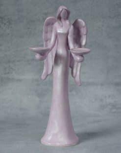 подсвечник ангел из керамики