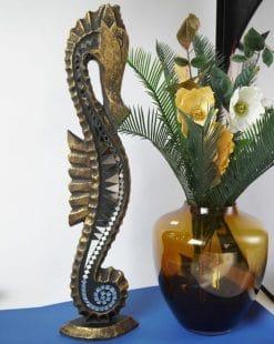фигура морской конёк деревянная большая