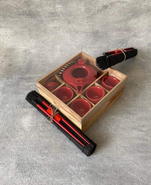 красный набор для чайной церемонии