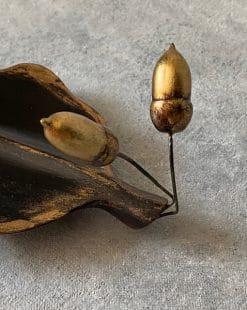 подставка для ручек дубовый лист