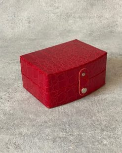 шкатулка для украшений красная