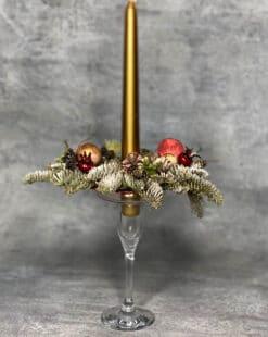 декор праздничный свечи