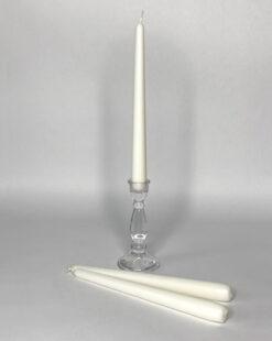 свеча высокая белая