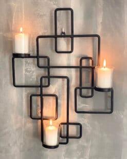 оригинальный подсвечник на три свечи